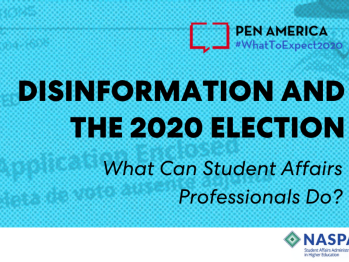Disinformation in the 2020 Election